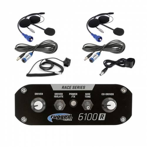 Rugged Radios - Rugged Radios RRP6100 2 Person Race Intercom Kit (NO DSP Chip)