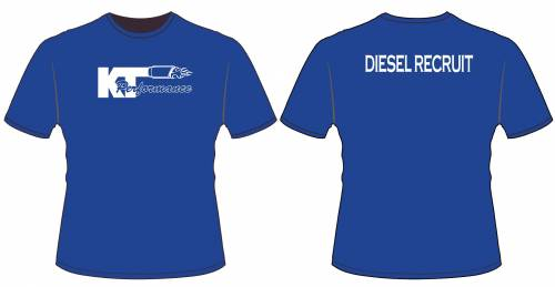 KT Performance Youth T-Shirt, Diesel Recruit, Blue (Large)