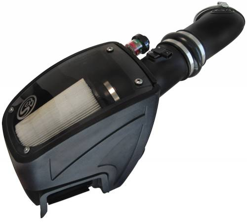 S&B - S&B Air Intake Kit, Ford (2011-16) F250/F350/F450/F550 6.7L Power Stroke Dry Disposable Filter