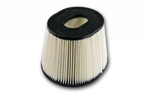 S&B - S&B Replacement Air Filter (for Ford 6.4L Intake with round flange) Disposable, Dry Media
