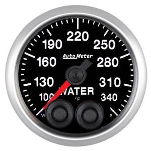 Autometer - Auto Meter Competition Series, Water Temperature 100*-340*F w/ Warning