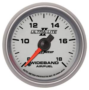 Autometer - Auto Meter Ultra Lite II Series, Air/Fuel Ratio-Wideband Analog (Full Sweep Electric)