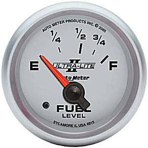 Autometer - Auto Meter Ultra Lite II Series, Fuel Level (Short Sweep Electric) Ford