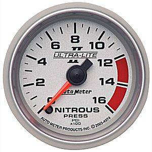 Autometer - Auto Meter Ultra Lite II Series, Nitrous Pressure 0-1600psi (Full Sweep Electric)