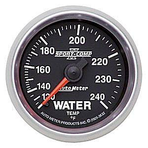 Autometer - Auto Meter Sport-Comp II Series, Water Temperature 120*-240*F (Mechanical)