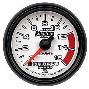 Autometer - Auto Meter Phantom II Series, Nitrous Pressure 0-1600psi (Full Sweep Electric)