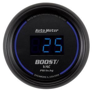 "Autometer - Auto Meter Colbalt Digital Series, Boost/Vacuum Pressure 30"" HG/30psi"