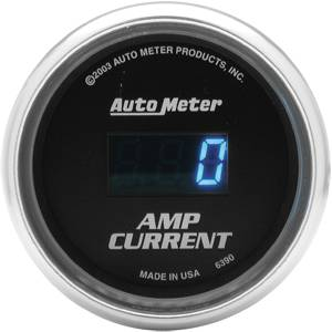 Autometer - Auto Meter Cobalt Series, Amplifier Ammeter 0-250AMPS (Full Sweep Electric)