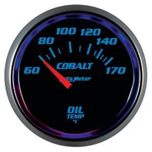 Autometer - Auto Meter Cobalt Series, Oil Temperature 60*-150*C (Short Sweep Electric)