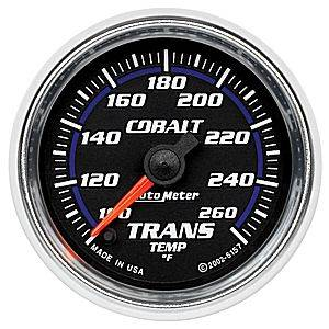Autometer - Auto Meter Cobalt Series, Transmission Temperature 100*-260*F (Full Sweep Electric)