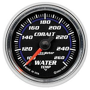 Autometer - Auto Meter Cobalt Series, Water Temperature 100*-260*F (Full Sweep Electric)