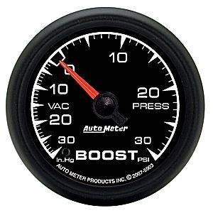 "Autometer - Auto Meter ES Series, Boost/Vacuum 30""HG/30psi  (Mechanical)"