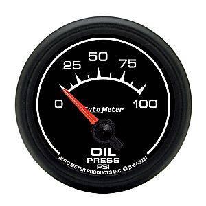 Autometer - Auto Meter ES Series, Oil Pressure 0-100psi (Short Sweep Electric)