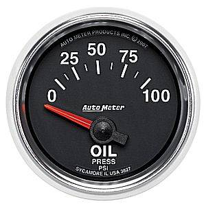 Autometer - Auto Meter GS Series, Oil Pressure 0-100psi (Short Sweep Electric)