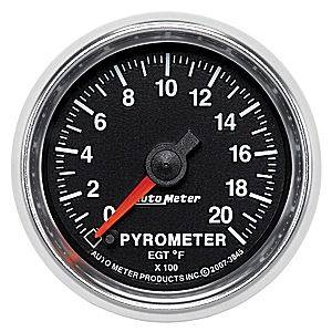 Autometer - Auto Meter GS Series, Pyrometer Kit 0*-2000*F (Full Sweep Electric)
