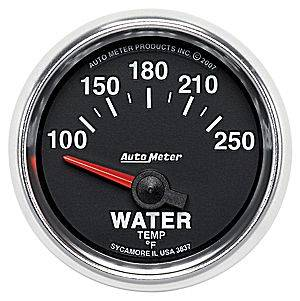 Autometer - Auto Meter GS Series, Water Temperature 100*-250*F (Short Sweep Electric)