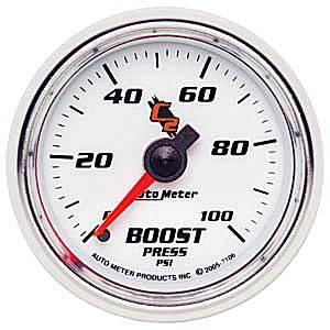 Autometer - Auto Meter C2 Series, Boost Pressure 0-100psi (Mechanical)