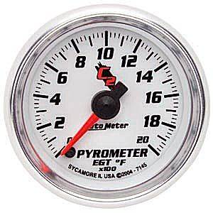 Autometer - Auto Meter C2 Series, Pyrometer Kit 0*-2000*F (Full Sweep Electric)