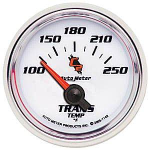 Autometer - Auto Meter C2 Series, Transmission Temperature 100*-250*F (Short Sweep Electric)