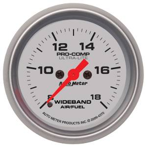 Autometer - Auto Meter Ultra Lite Series, Air Fuel Ratio-Wideband Analog (Full Sweep Electric)