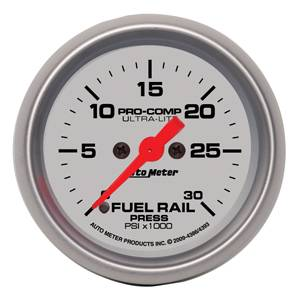 Autometer - Auto Meter Ultra Lite Series, Diesel Fuel Rail Pressure 0-30,000psi (Full Sweep Electric) 6.7L LBZ & LMM