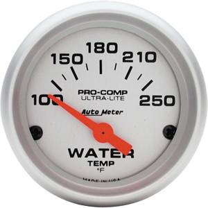 Autometer - Auto Meter Ultra Lite Series, Water Temperature 100*-250*F (Short Sweep Electric)