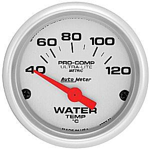 Autometer - Auto Meter Ultra Lite Series, Water Temperature 40*-120*C (Short Sweep Electric)