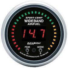 Autometer - Auto Meter Sport-Comp Series, Air Fuel Ratio-Wideband Pro (Full Sweep Electric)