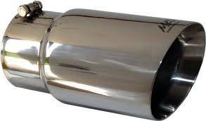"""MBRP - MBRP Exhaust Tip 5"""" inlet, 6"""" outlet, angle cut 12"""" long, T-304 Stainless Dual Wall"""