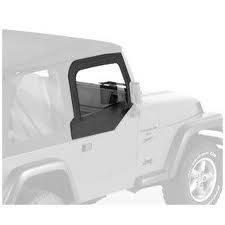 Bestop - Bestop Fabric Replacement Upper Door Skins, Jeep (1997-06) TJ Wrangler (Black Denim)