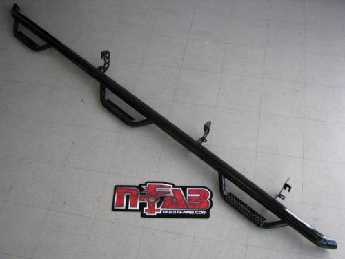 N-Fab - N-Fab Nerf Steps, Ford (1987-97) F-250 & F-350 Crew Cab Long Bed, Bed Access (6-Step)