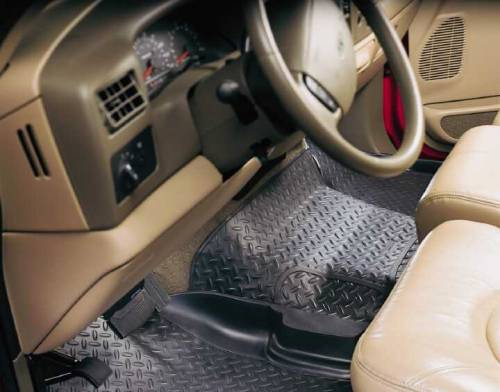 Huskyliners - Husky Liners Floor Liner, Chevy/GMC (1999-06) 1500/2500/3500 extended cab & (00-06)  Suburban/Tahoe/Yukon/Yukon XL, Black Center Front Hump