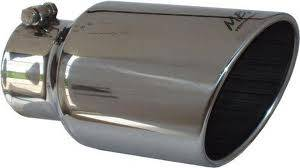 """MBRP - MBRP Exhaust Tip 4"""" inlet, 6"""" outlet, angle cut 12"""" long, T-304 Stainless Single Wall"""