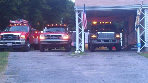 Joe and all his trucks!