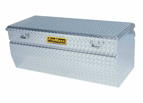 "Pro Maxx - Pro Maxx Tool Box Chest, 36""L x 19""W x 18""H Aluminum Diamond Plate, wedged bottom"