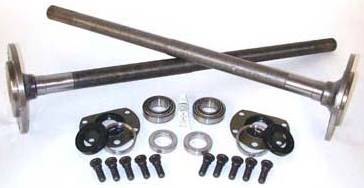 Yukon Gear & Axle - One piece short axles for Model 20 '76-'3 CJ5, and '76-'81 CJ7 with bearings and 29 splines, kit.
