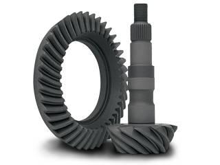 "Yukon Gear Ring & Pinion Sets - High performance Yukon Ring & Pinion gear set for GM 8.25"" IFS Reverse rotation in a 3.73 ratio."