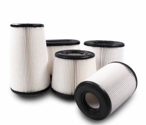 "Air Filters - Aftermarket Style Replacement/Universal Air Filter - S&B - S&B Universal Air Filter (5"" Flange, 8"" Base, 5.6"" Top, 9"" Height) Disposable, Dry Media"