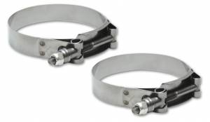 "Vibrant Performance - Vibrant Performance Stainless Steel T-Bolt Hose Clamps (Pack of 2) 4.2""-4.6"""