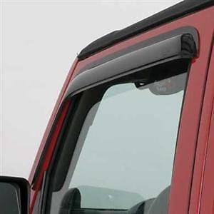 Exterior Accessories - Window Visors/Rain Guards - AVS - AVS Ventvisor, Jeep (2007-14) Wrangler (2 Piece, Smoke)