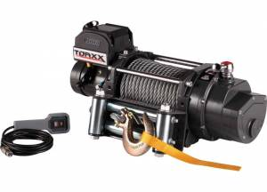 Winches - Electric Winches - Pro Maxx - Torxx Truck Winch Kit, 15,000lbs with wire fairlead
