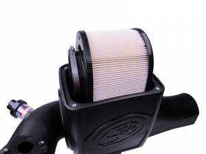 S&B - S&B Air Intake Kit, Ford (2003-07) F250/F350/F450/F550, 6.0L Power Stroke, Dry Extendable Filter (New Design) - Image 4
