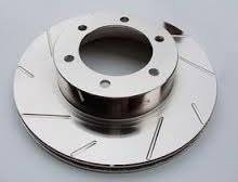 Brakes & Exhaust Brakes - Brake Rotors - Diamond T Enterprises - Diamond T Performance Brake Rotor Pair, Chevy/GMC (DTE-T55-075) Slotted, Gray ZRC Finish
