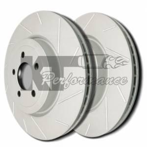 Diamond T Enterprises - Diamond T Performance Brake Rotor Pair, Chevy/GMC (DTE-T55-075) Slotted, Gray ZRC Finish - Image 2