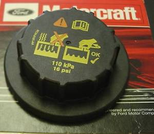 Engine Parts - Coolant System Parts - Ford Genuine Parts - Ford Motorcraft Coolant Reservoir Cap, Ford (1999-14) 5.4L, 6.0L, 6.4L, 6.7L, & 6.8L F-150, F-250, F-350, F-450, F-550, & (00-05) Excursion