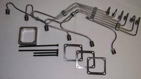 """Scheid Diesel - Scheid Diesel Pre-Bent Injection Line Kit, 24V Cummins with P Pump, 0.093"""" mild steel"""