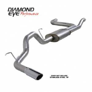 "Diamond Eye Performance - Diamond Eye 3.5"" Cat Back Exhaust, Nissan (2004-14) Titan, 5.6L Gas, Single, Aluminized - Image 3"