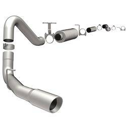 "Exhaust - 4"" Cat/DPF Back Single Exit Exhaust - Magnaflow - MagnaFlow 4"" Cat-Back, MagnaFlow Series Exhaust, Ford (1999-07) 6.0L/7.3L Diesel, Side Rear Exit, Stainless"