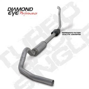 "Diamond Eye Performance - Diamond Eye 4"" Turbo Back Exhaust, Ford (1994-97) F250/F350, 7.3L Power Stroke, Single, T-409 Stainless (Retains Cat) - Image 2"