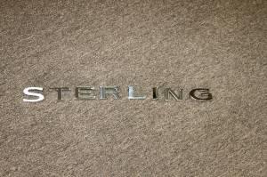 """Badges/Decals/Stickers - Chrome/Stainless Badges - Mopar - Sterling Bullet, """"STERLING"""" Letter Badge Set"""